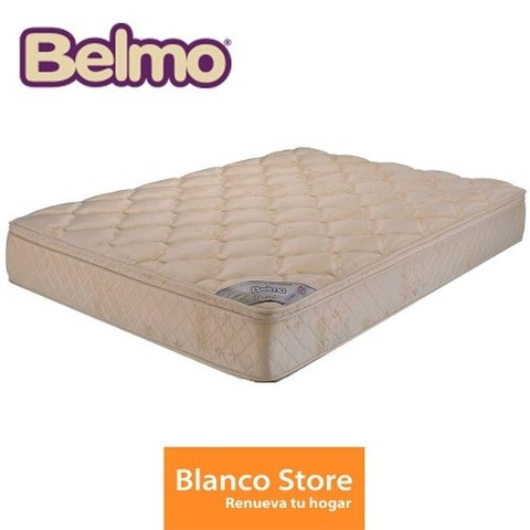 Colchon Con Pillow Dorado Queen Belmo 190 X 150