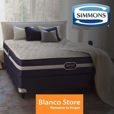 Sommier Y Colchon King Simmons Beautyrest Classic 200 X 200