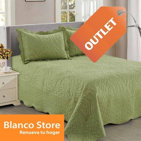 QUILT 1 1/2 PLAZA BORDADOS AMARELO OUTLET