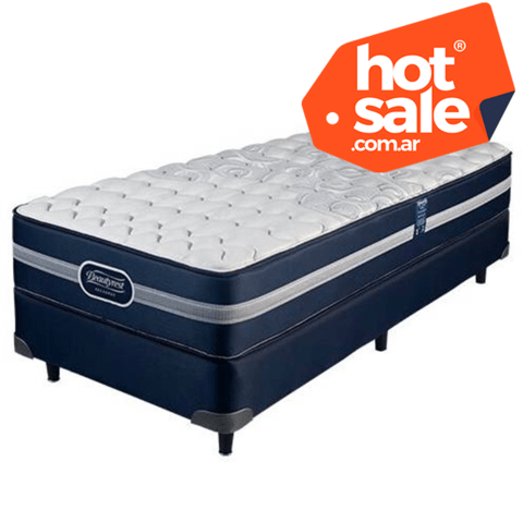 Sommier Simmons Beautyrest Recharge Classic 1 1/2 Plaza 190 x 90 HOT SALE! - comprar online