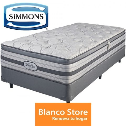 SOMMIER Y COLCHON QUEEN SIMMONS WORLD CLASS SPA - comprar online