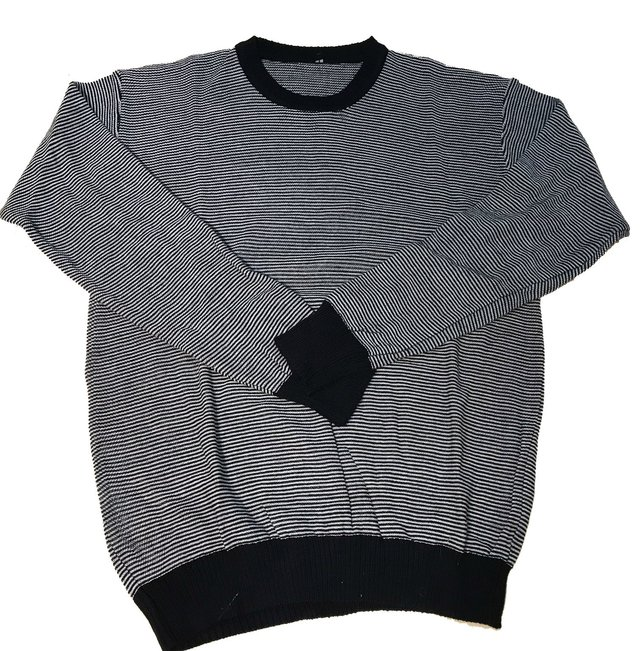 sweater cuello redondo rayas finitas en internet