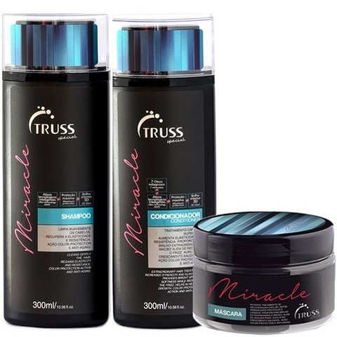 Kit Truss Miracle  Shampoo 300ml + Condicionador 300ml + Máscara 180g