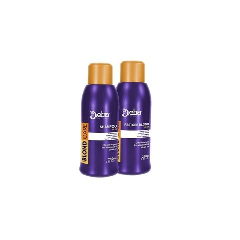 Detra Blond Care Shampoo 280ml + Blond Care Restore 280g - R