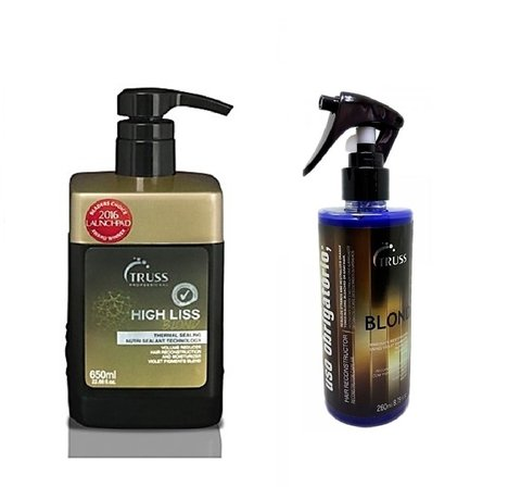 Truss Kit High Liss Blond 650ml + Truss Uso Obrigatório Blond 260ml