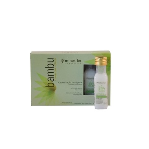 Kit Minas Flor Ampolas Life Natural Detox Bambu 6x20ml