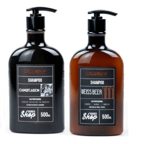 Kit Dicolore Barbershop Weiss Beer Shampoo 500ml + Shampoo Camuflagem 500ml