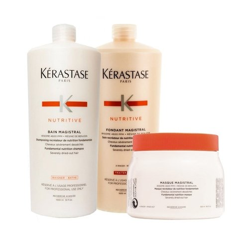 Kit Kerastase Nutritive Magistral Shampoo 1000ml + Condicionador 1000ml + Mascara 500ml