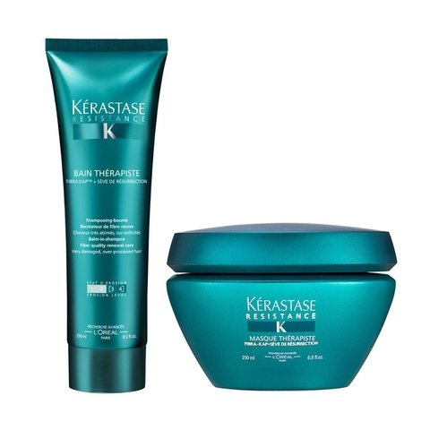 Kit Kerastase Resistance Therapiste Shampoo 250ml + Máscara 200ml