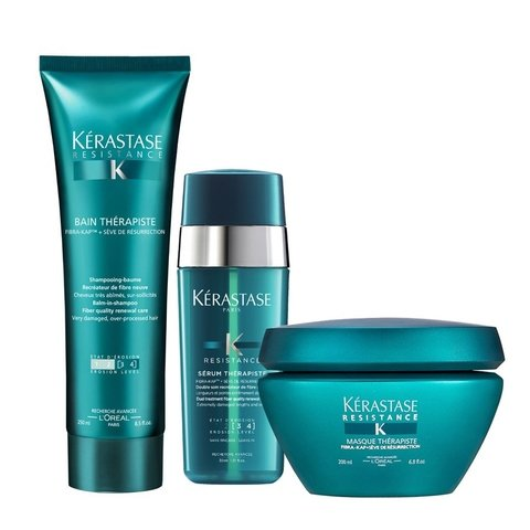 Kit Kerastase Resistance Therapiste Shampoo 250ml + Máscara 200ml + Serum 30ml