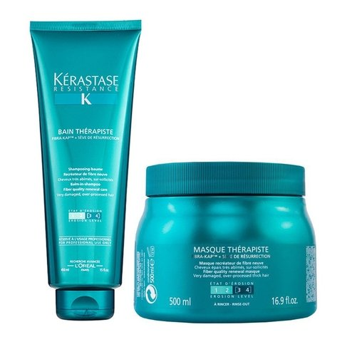 Kit Kerastase Therapiste Shampoo 450ml + Máscara 500ml