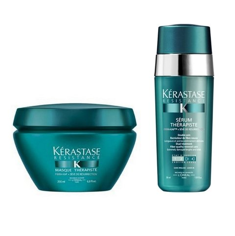 Kit Kerastase Resistance Therapiste Máscara 200ml + Serum 30ml