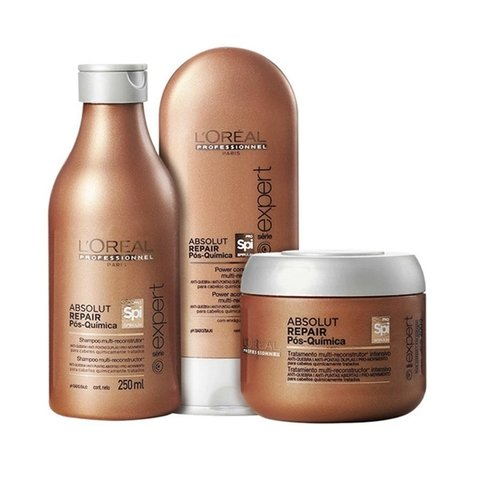 Kit Loreal Professionnel Abslout Repair Pós Quimica Pequeno