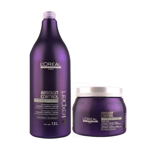 Kit Loreal Professionnel Absolut Control Shampoo 1500ml + Máscara 500g