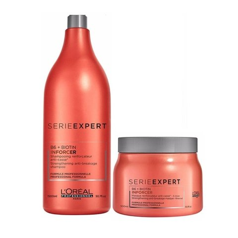 Kit Loreal Professionnel Inforcer Shampoo 1500ml + Mascara 500g