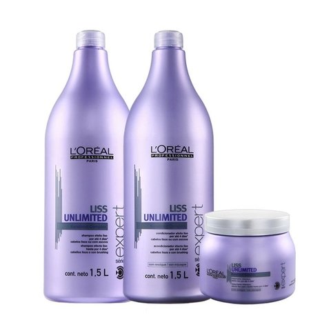 Kit Loreal Professionnel Liss Unlimited Grande 3 Produtos