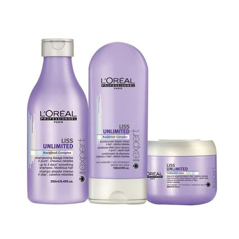 Kit Loreal Professionel Liss Unlimited Pequeno