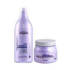 Kit Loreal Professionnel Liss Unlimited Shampoo 1500ml + Máscara 500g