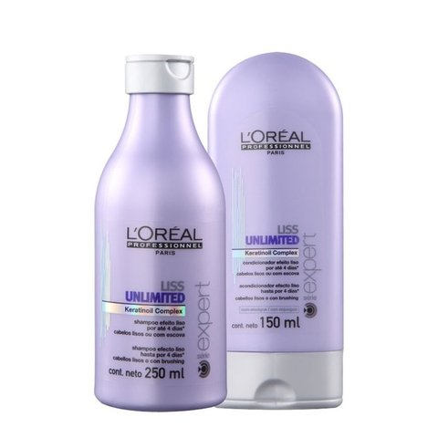 Kit Loreal Professionnel Liss Unlimited Shampoo 250ml + Condicionador 150ml