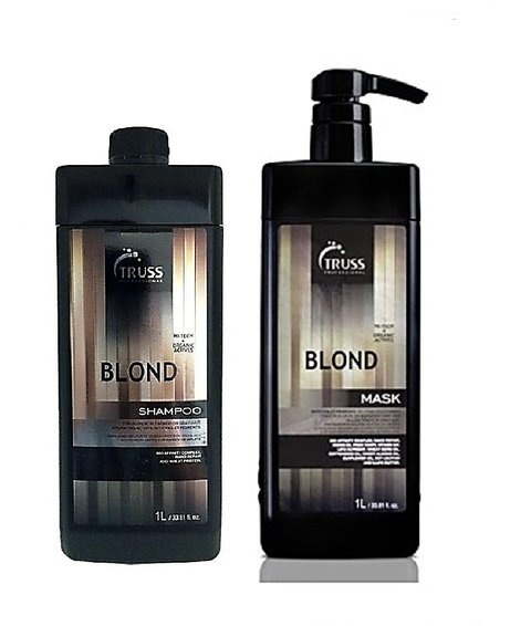 Kit Truss Duo Lavatório Blond Hair Shampoo 1000ml + Mask 1000ml