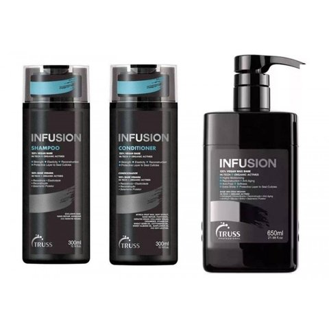 Kit Truss Infusion Shampoo Condicionador 2x 300ml + Infusion 650ml  (3 Produtos)