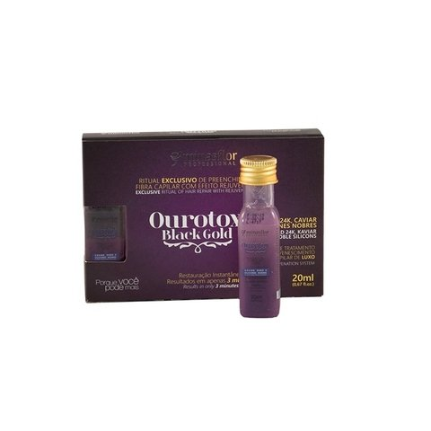 Kit Minas Flor Ampolas Ourotox Black Gold 6x20ml