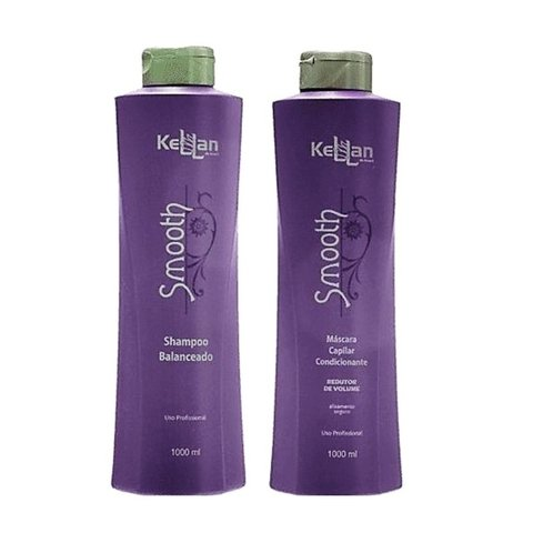 Kellan Smooth Progressiva 2 Passos - Shampoo 1000ml + Máscara Condicionante 1000ml
