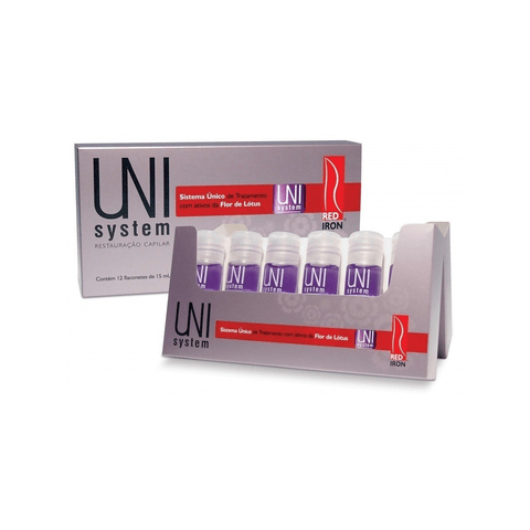Red Iron Ampola UniSystem Flor De Lotus 12x15ml