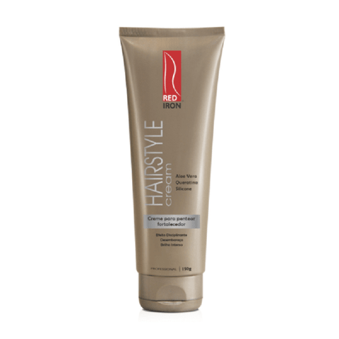 Red Iron Hairstyle Cream Creme de Pentear 150g