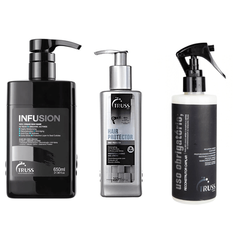 Truss Infusion 650ml + Uso Obrigatório Normal 260ml + Finish Care Hair Protector 250ml