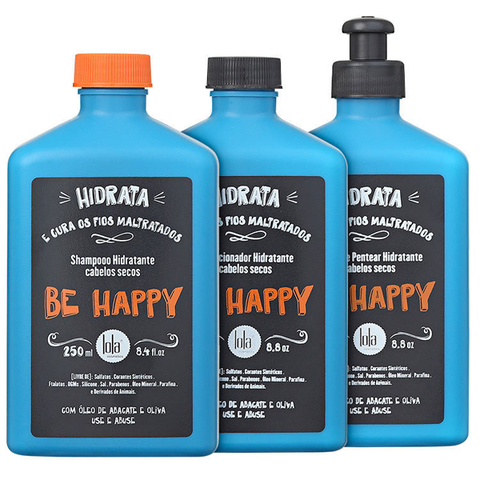 Lola Cosmetics - Be happy Kit Shampoo + Condicionador + Pentear - comprar online