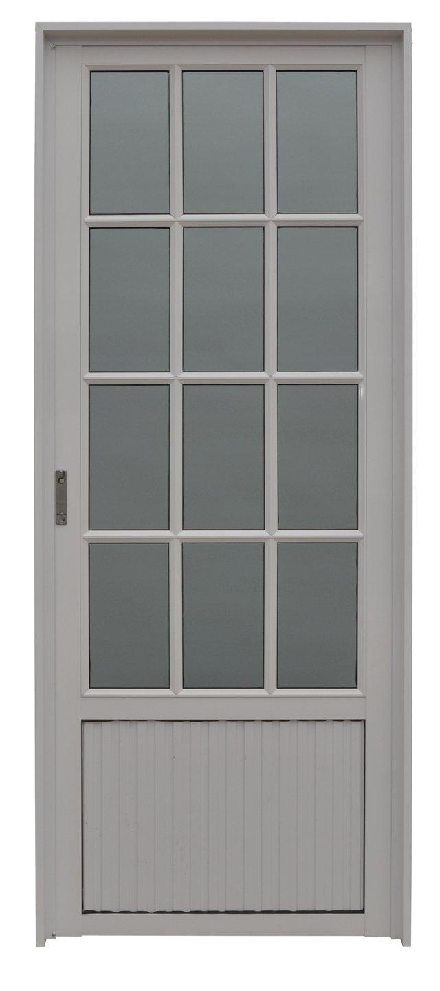 puerta aluminio vidrio