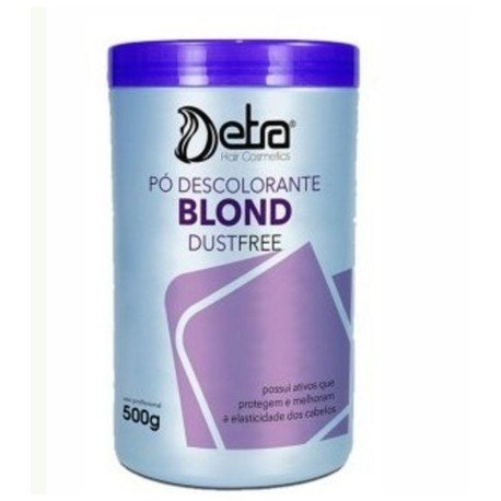 Pó descolorante dust Free blond 500gr detra hair cosmeticos