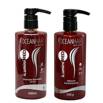 Kit Ilumini Red Ocean Hair Tons Vermelhos Matizador 500ml