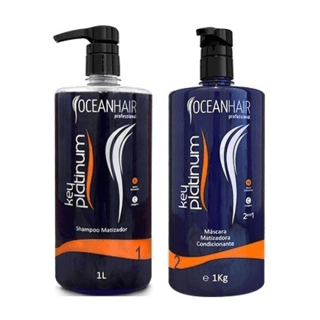 Kit Key Platinum Ocean Hair Matizador De Tons Platinados 1L