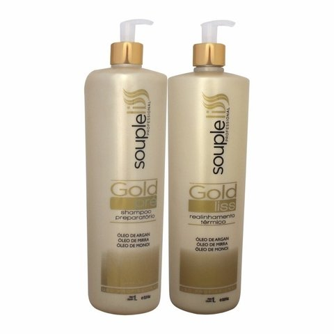 Kit Progressiva Gold liss 2x 1000ml Souple Liss