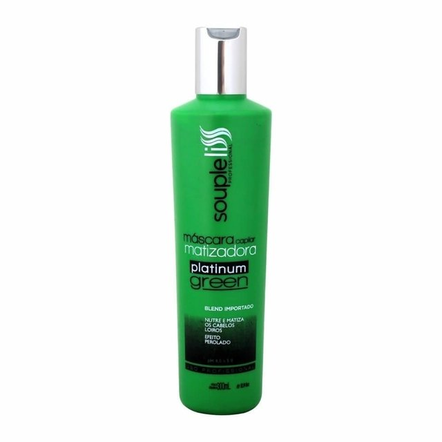 Mascara matizadora platinum GREEN 300ml  Souple Liss
