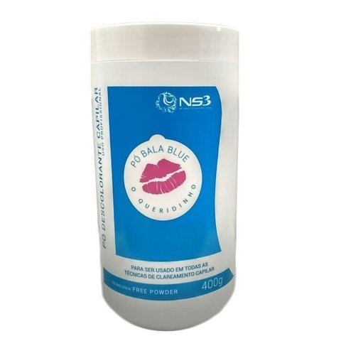 Pó descolorante bala blue 400g NS3 cosmeticos pó bala descolorante