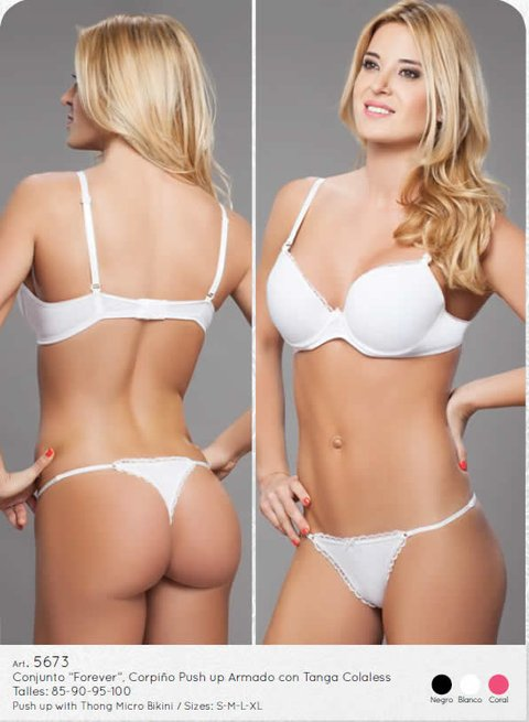 Cocot - Conjunto Push Up Armado C/Tanga Art.5673