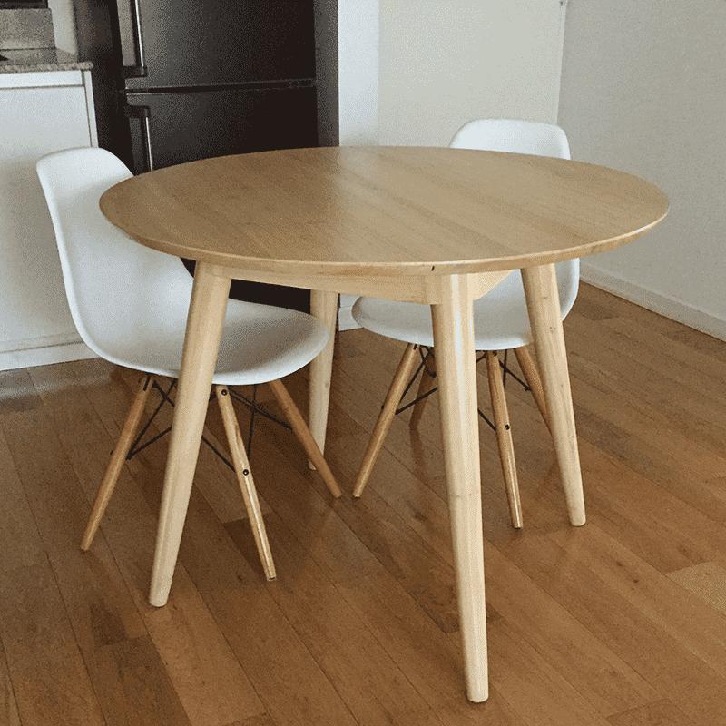 Mesa de madera mesa de madera el estilo nrdico en las for Mesa carro bar madera