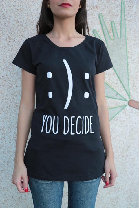 T-Shirt Feminina - You Decide - comprar online