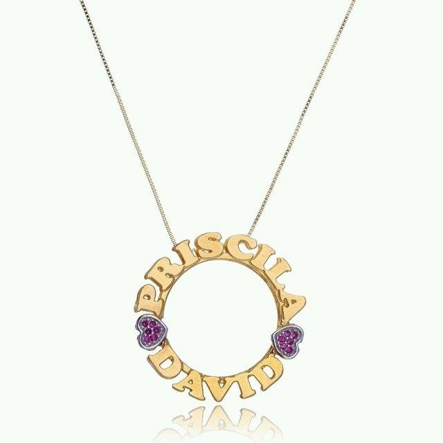 Mandala personalizada com pedras em zirconia cravejadas no coração, banhada  com ouro 18k a31269e22b