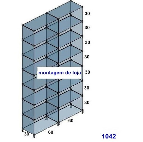 1042 Prateleira de vidro 1,2 metros 1042