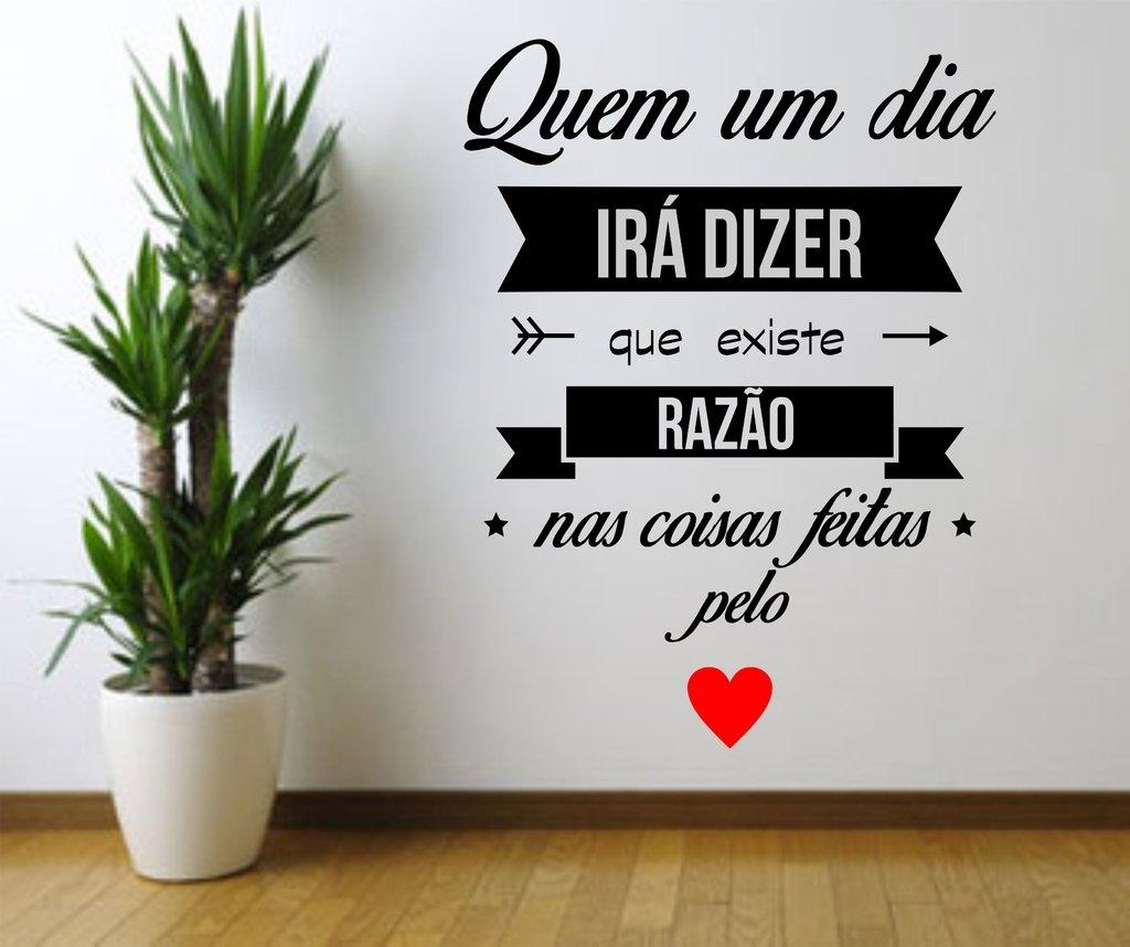 Artesanato Virtual ~ Adesivo de Parede Frase Coisas do Coraç u00e3o