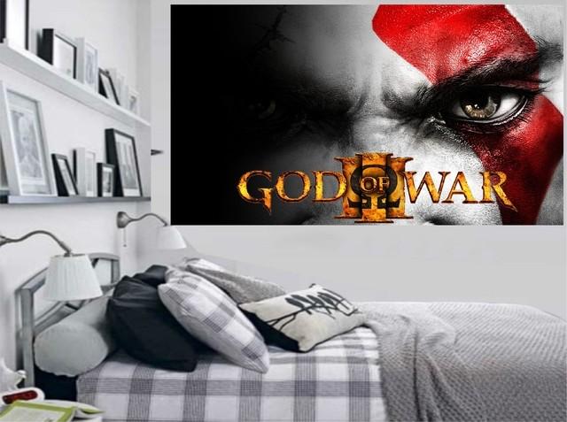 Mueble Aparador Gris Ceniza ~ Adesivo de Parede Game God Of War