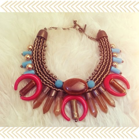 Collar luna Red