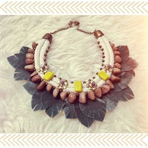 Collar mini stone green