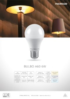 Lampara   BULBO LED 6 watts - comprar online