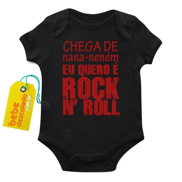 Roupas Descoladas Para Bebês - Body Nana Neném Eu Quero Rock N  Roll ea024fa94fb