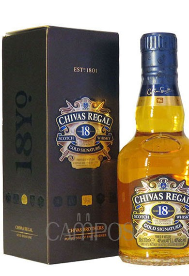 WHISKY CHIVAS REGAL 18 A†OS X200ML C/ EST